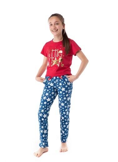 Pamuk & Pamuk Yıldız Desen Genç Kız Pijama Takım Renkli